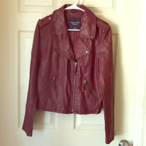 American Eagle Outfitters faux leather moto jacket